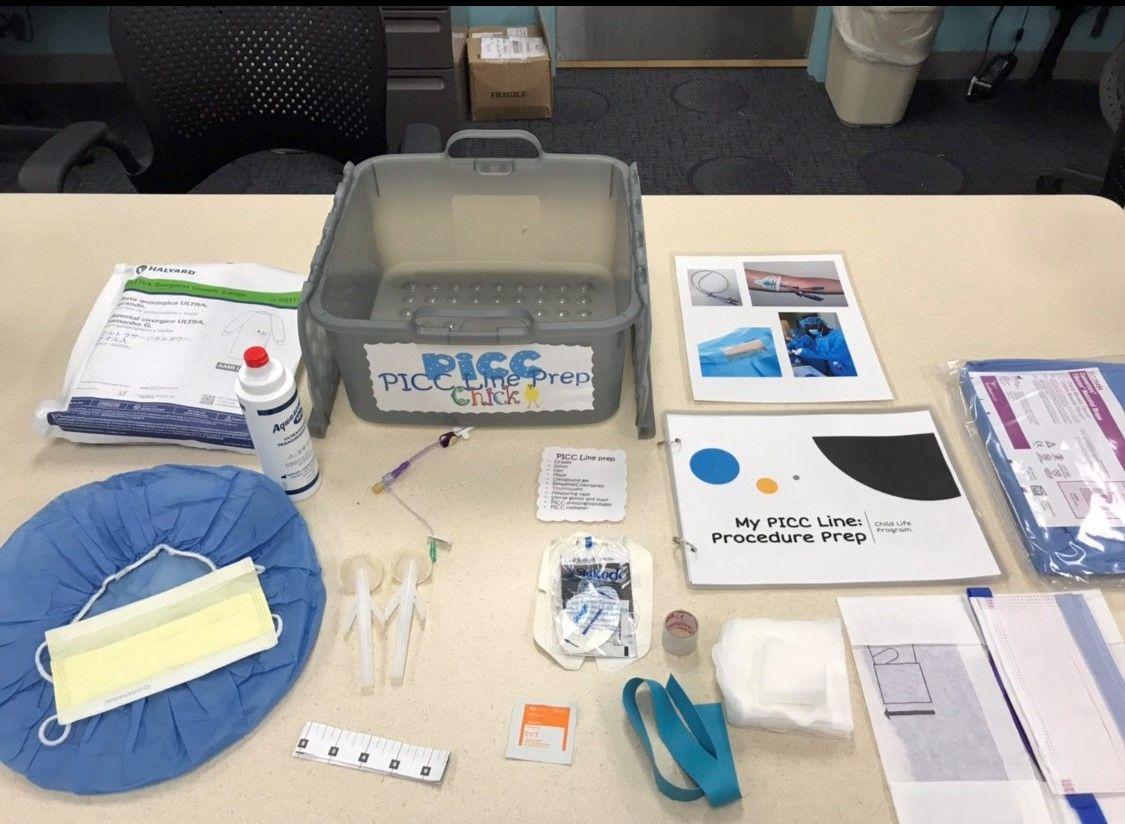 PICC line prep kit Child life specialist, Child life