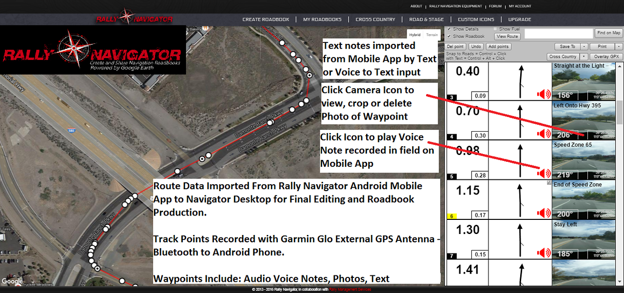 Rally Navigator   Rally Navigator - Online Roadbook Software   Rally