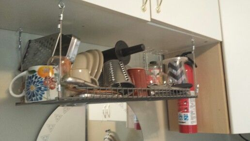 Diy Hanging Dish Drying Rack Great Space Saver Dish Rack