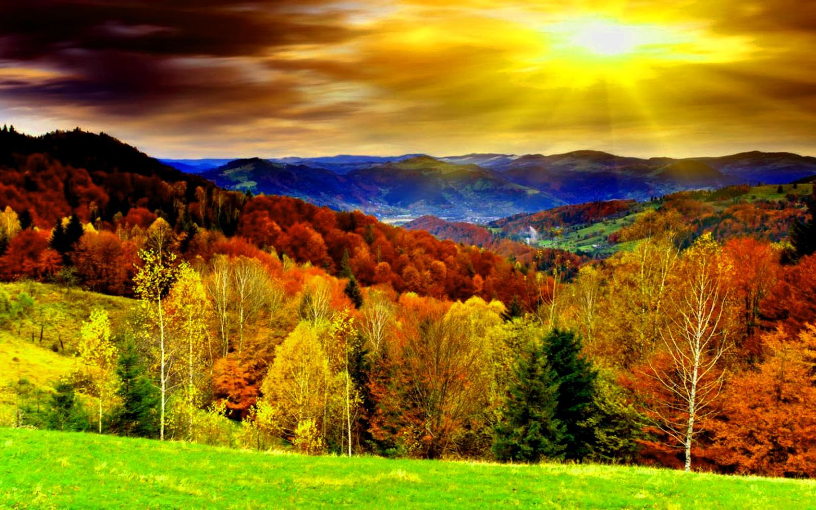Free Autumn Desktop Backgrounds Season Wallpaper