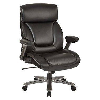 Inspired By Bassett Bp39207 Ec3 Osp Bonded Leather Executive Chair Black Bonded Leather Chair Chair Executive Chair