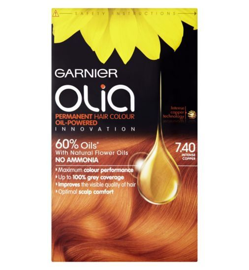 Garnier Olia Permanent Hair Colour 7 40 Intense Copper Boots