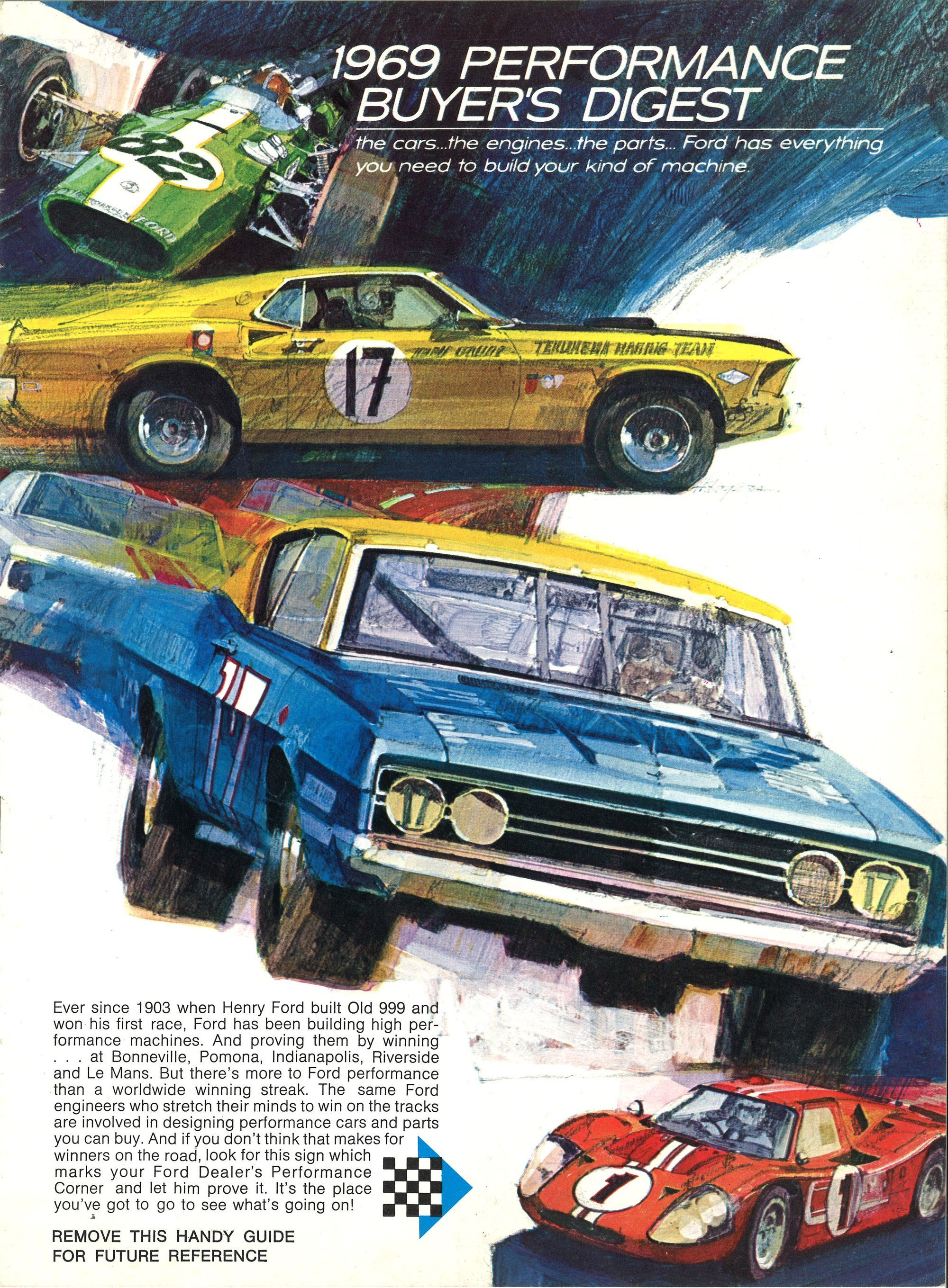 It S The Going Thing 1969 Ford Perfor Ford Motorsport Ford Racing Ford