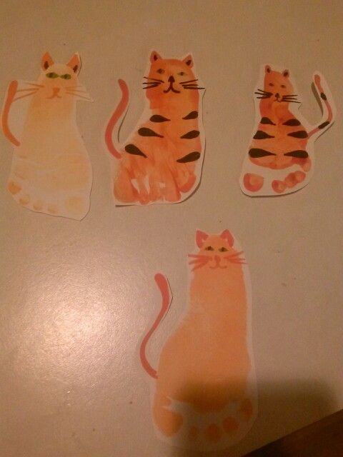 Kitty Tiger Footprint Around My Classroom Baby Crafts