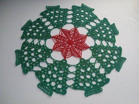 Carpeta Navidea a crochet YouTube NAVIDAD Pinterest Crochet