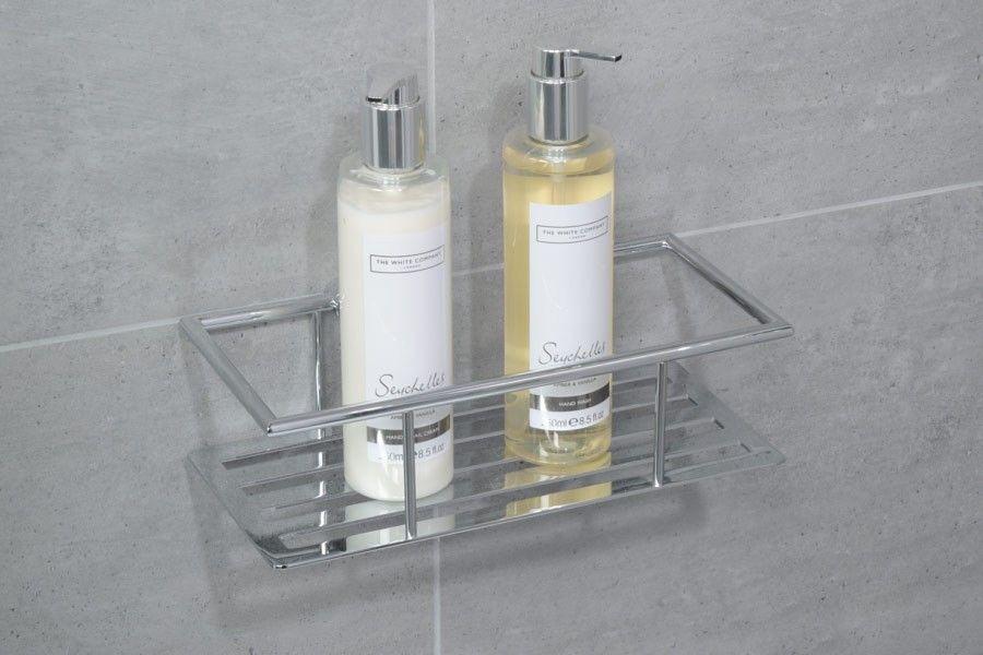 Cromo One Shelf Rectangular Basket Stainless Steel Bathroom Accessories Rectangular Baskets Amazing Bathrooms