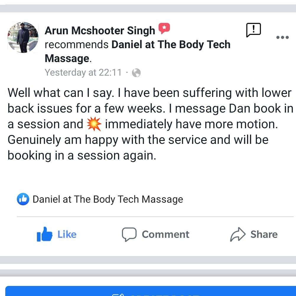 Another happy client @singh742  #sportsmassage #sports #recovery #health #fitness #review #sportsmas...