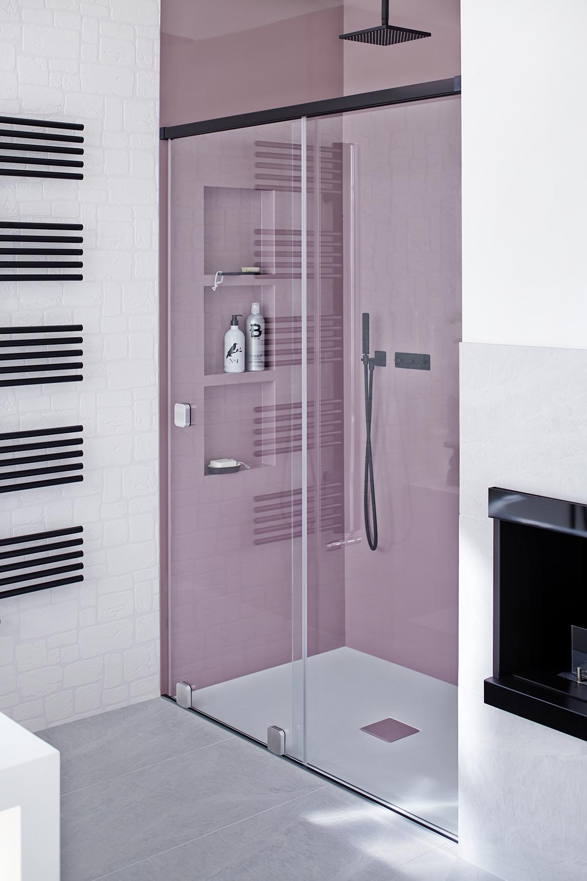 Shower niche different colours Dusche Regalnische