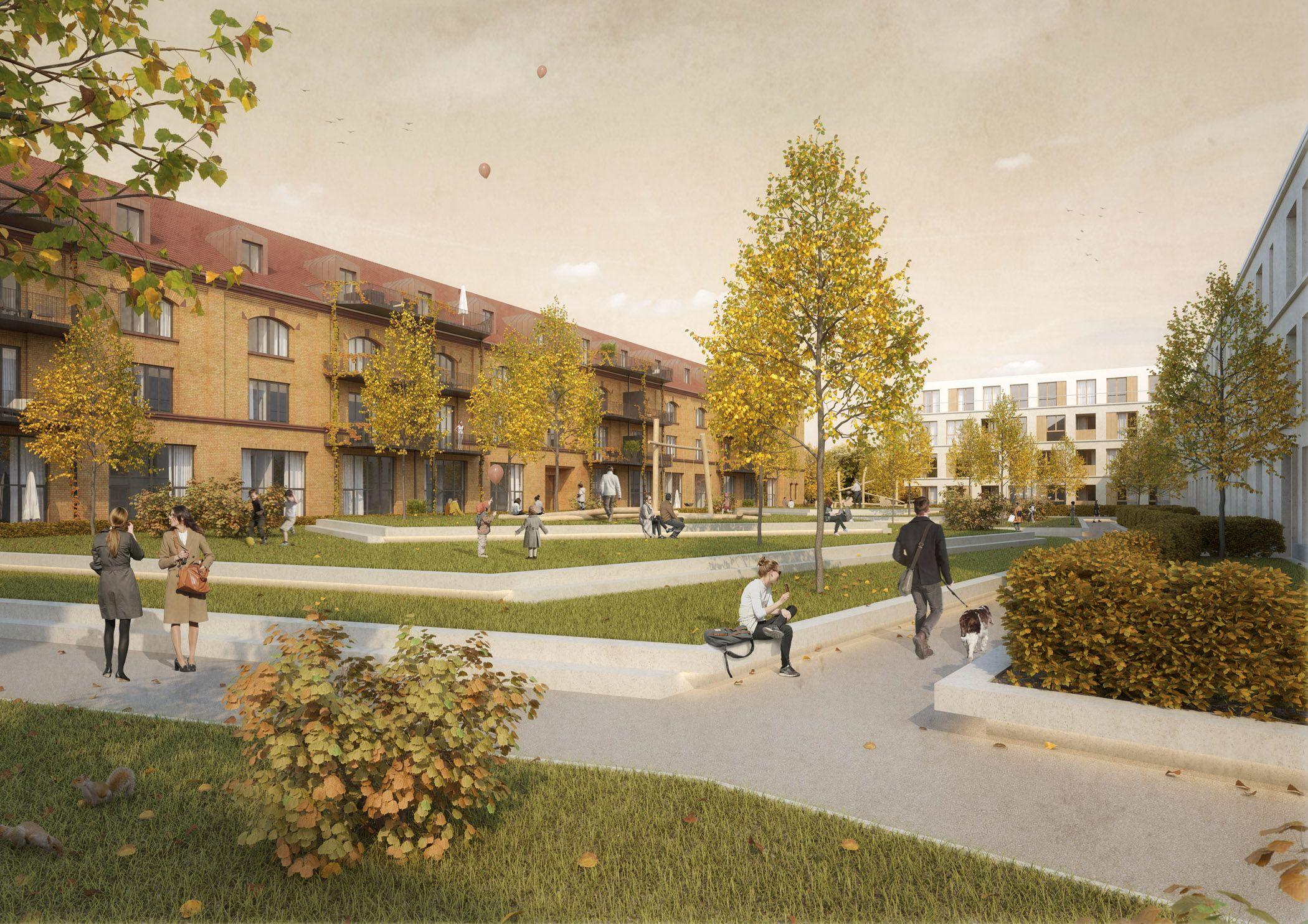 Architekten Karlsruhe visualisierung wohnpark am ebenberg landau für gjl architekten