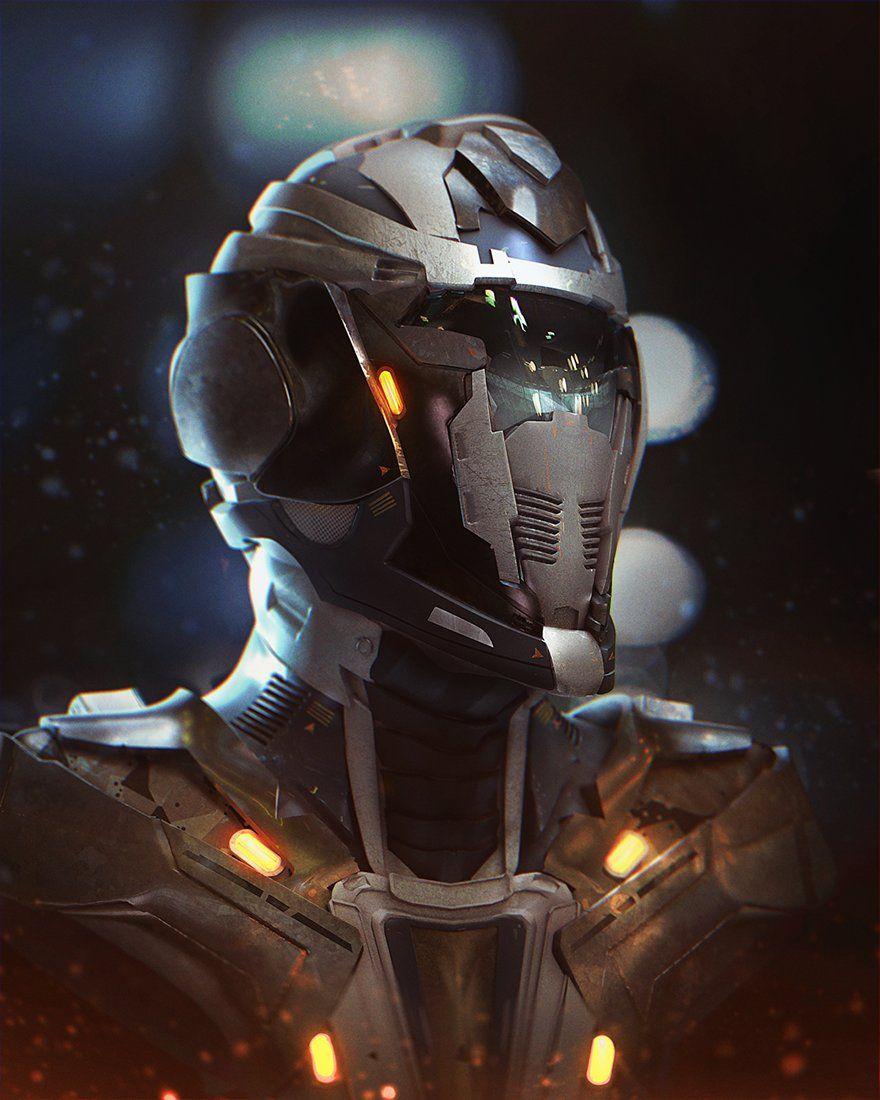 Tutorial Helmet 1 Mathias Zamecki Futuristic Helmet Sci Fi Futuristic Armor Hd wallpaper sci fi soldier helmet