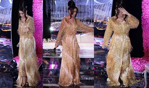 دنيا بطمة تعتمد القفطان المغربي الذهبي وت ثير إعجاب جمهورها Dresses With Sleeves Formal Dresses Long Long Sleeve Dress