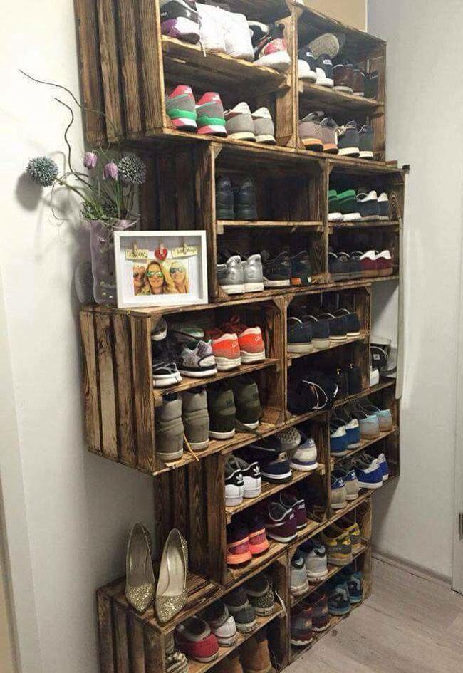 21 Diy Shoes Rack Shelves Ideas Home Decor Diy Shoe Rack Home