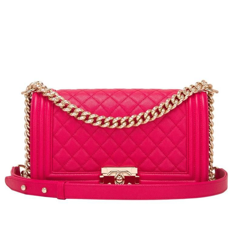 7c1f61e82920 Chanel Fuchsia Caviar Medium Boy Bag #Chanelhandbags | Chanel ...