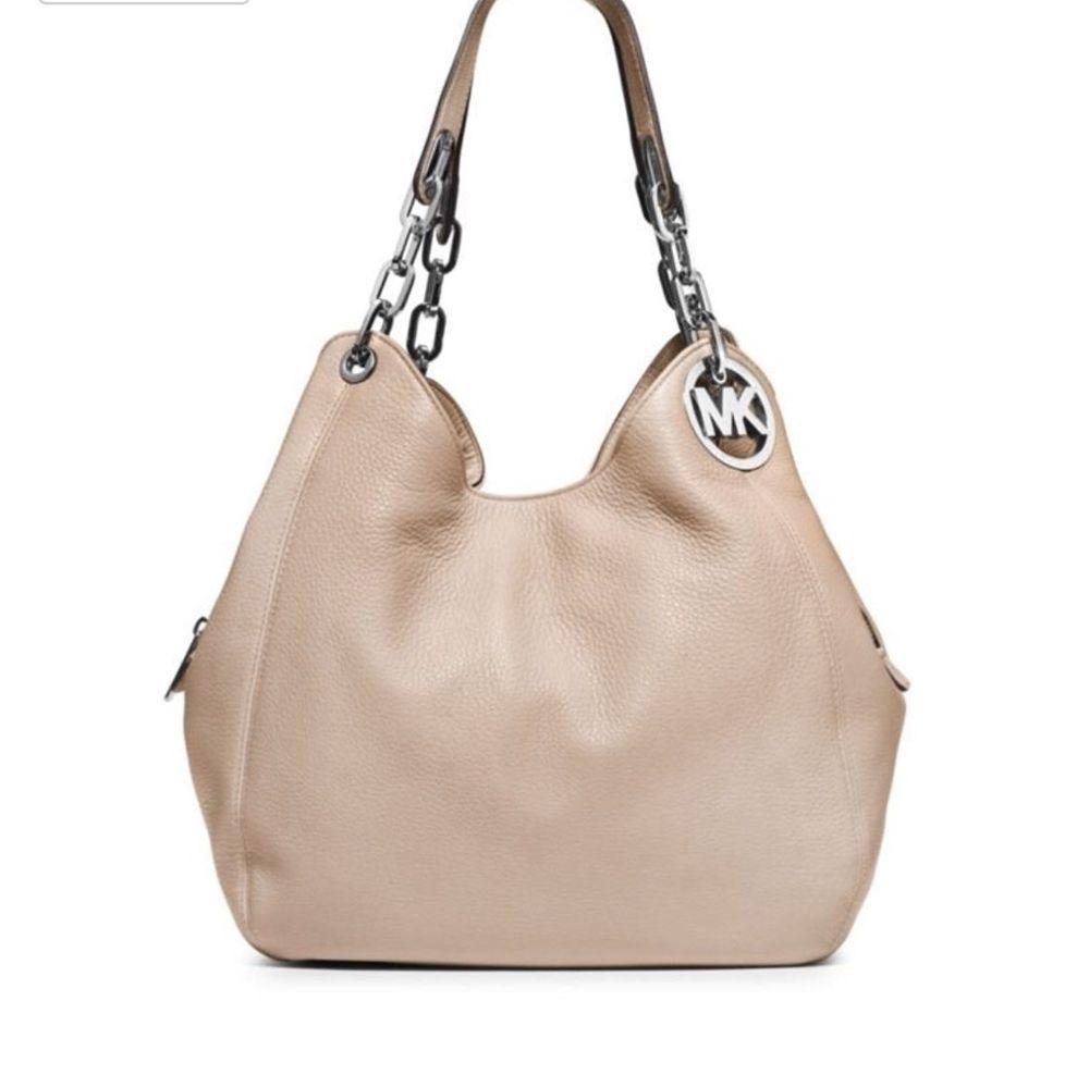 3009b1742a3d7 Michael Kors Fulton Handbag LD Shoulder Hobo Cement   Silver- Genuine  Leather