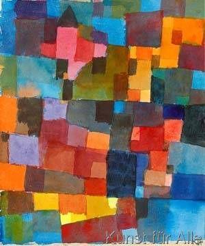 Paul Klee Raumarchitekturen Kunstdruck Leinwandbild Gerahmtes Bild Paul Klee Moderne Abstrakte Kunst Kunstler Leinwand