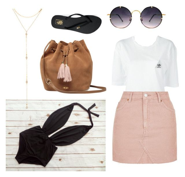 """""""Woman 2"""" by chloe-huguenin on Polyvore featuring Vans, Fragments, Spitfire, UGG, adidas and Topshop"""