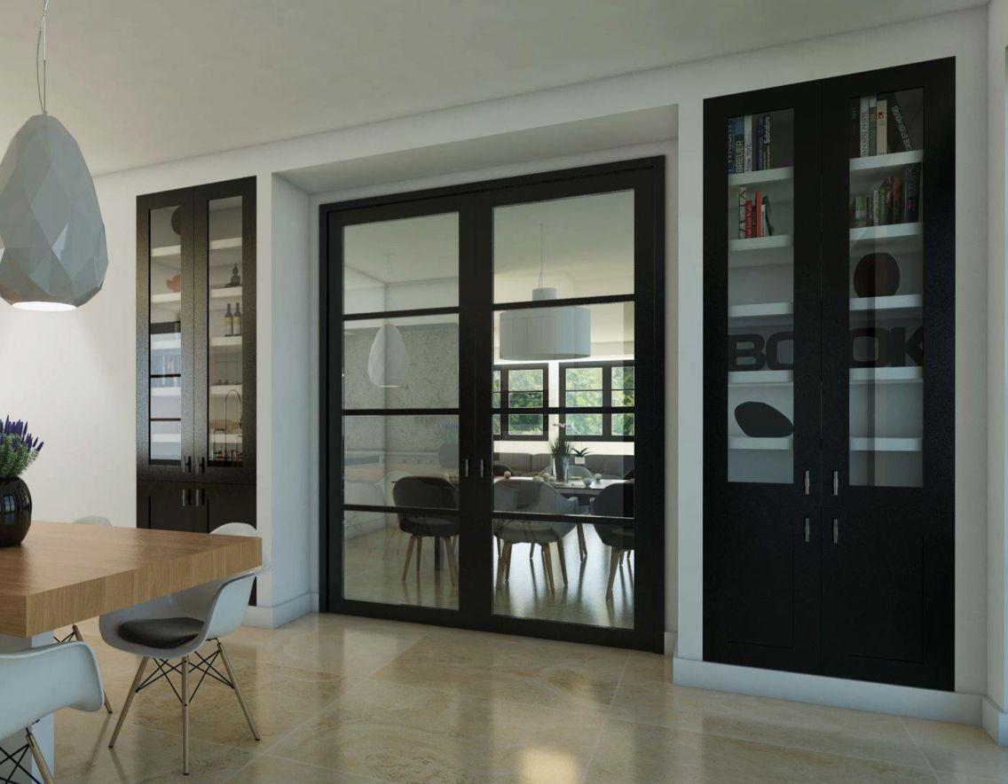voorbeeld van deuren Ensuite met gesloten inbouwkasten ( deuren over de hele lengte),