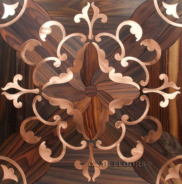 Magnificent Flooring Custom Parquet Tile With Brass Inlay, Check Pictures  Of Other Inlays, Wood And Stone Medallions, Borders And Parquet From Czar  Floors.