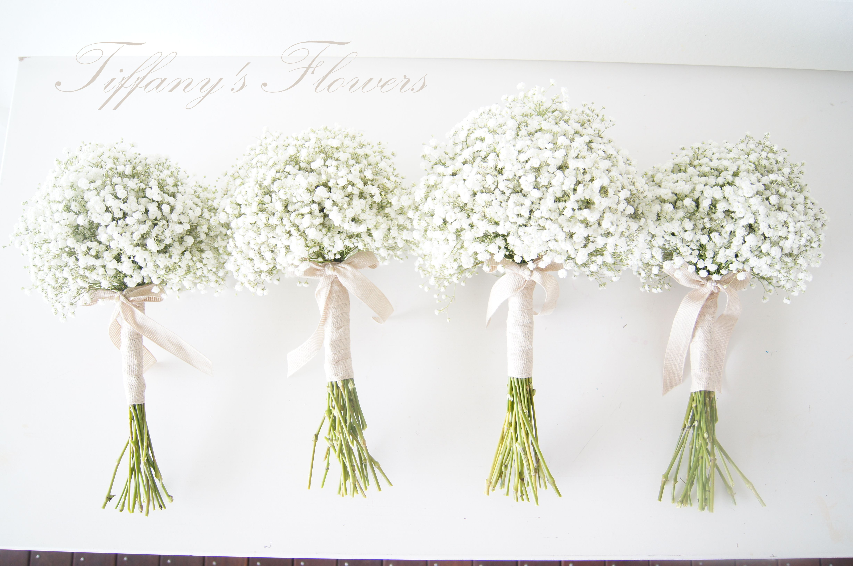 baby's breath wedding bouquet cost