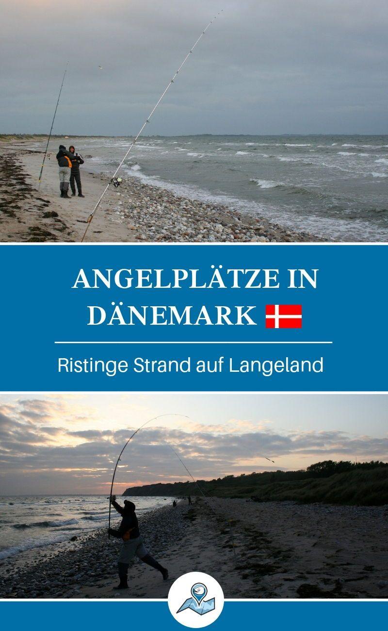 Perfekter Strand zum Brandungsangeln auf Langeland: kurze