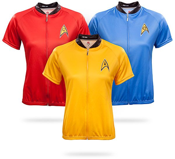 937e8a5db ThinkGeek    Star Trek Uniform Ladies  Cycle Jersey