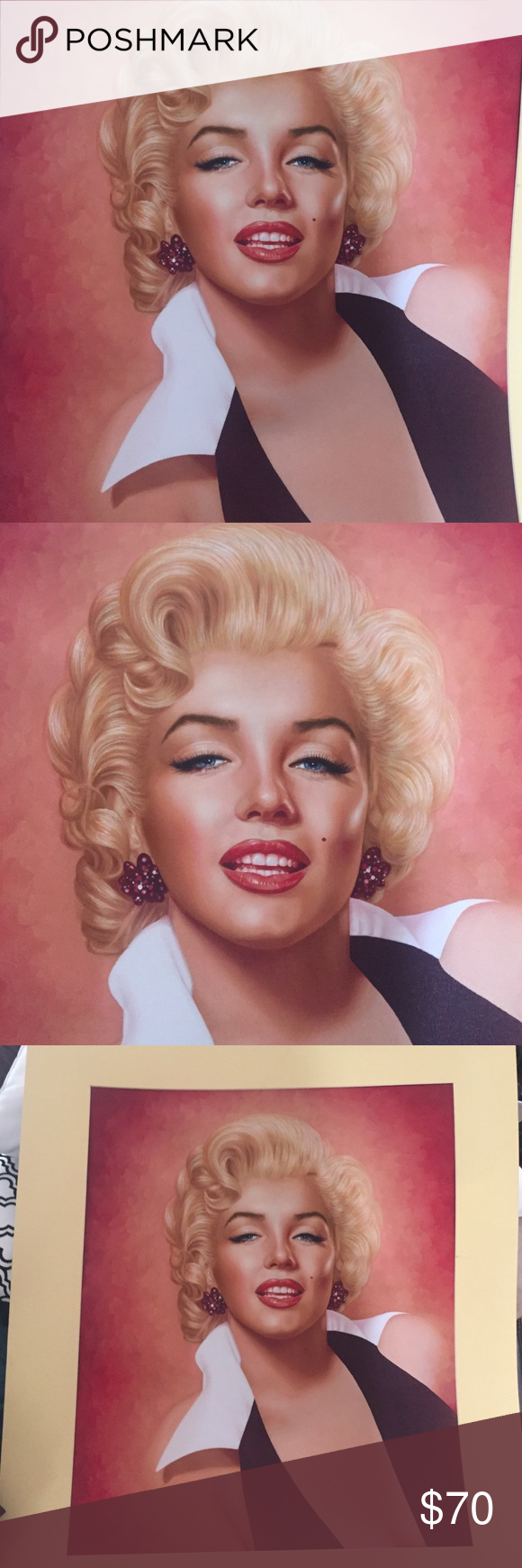 Marilyn Monroe painting Beautiful Marilyn Monroe oil painting. Can fit on an 18x 24 frame or larger Other