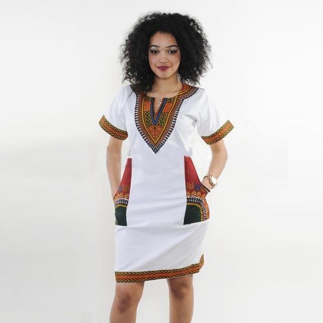 4ac90d0fe0 Dashiki dress 2016 Summer Sexy African Print Shirt Dresses Femme Vintage  Mini hippie Plus Size Boho