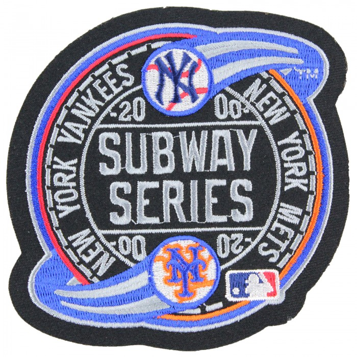 2000 Subway Mlb World Series Championship Logo Jersey Patch New York Mets Yankees New York Mets Subway Series Patch Logo