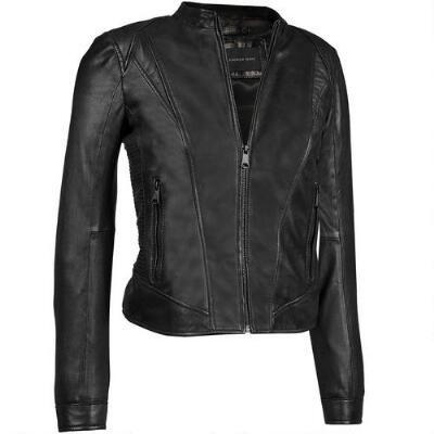 Marc New York Zip Front Leather Moto Jacket