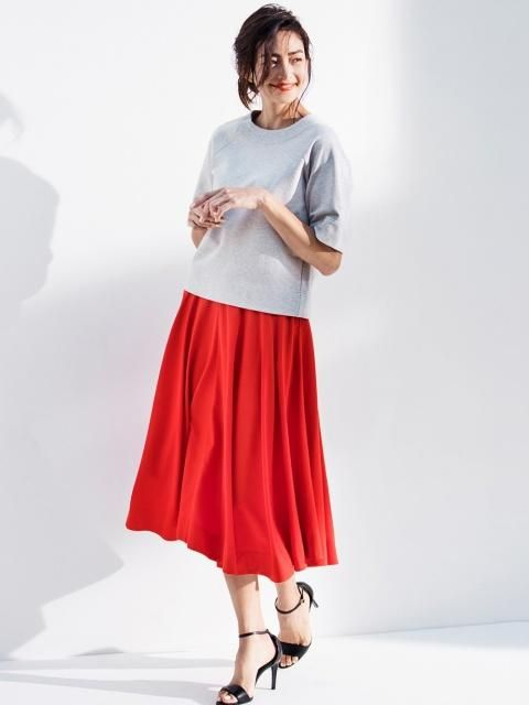 9230dab4d6 Uniqlo U Rayon Midi Skirt - The beautiful skirt that flows with you as you  move.