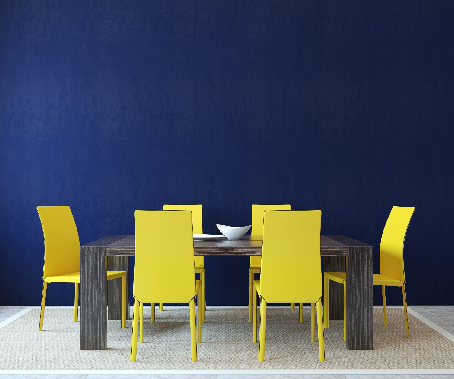 Navy yellow bedrooms house paint interior and yellow kitchen walls - Beautiful Blue Navy Interiors For Spring Yellow Dining Chairs