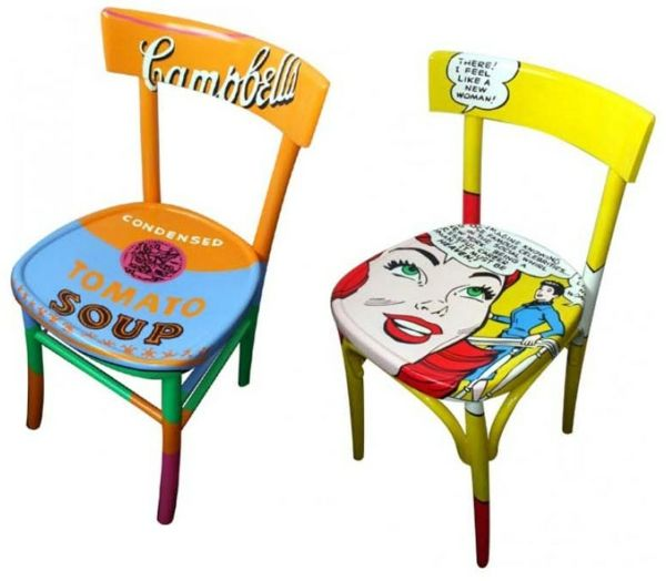 Pop Art Merkmale im Innendesign - Einrichtungsideen im 60er Jahre - design stuhl einrichtungsmoglichkeiten