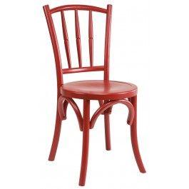 Chaise A Barreaux Bois Rouge Chaises Rouges Bois Rouge Chaise