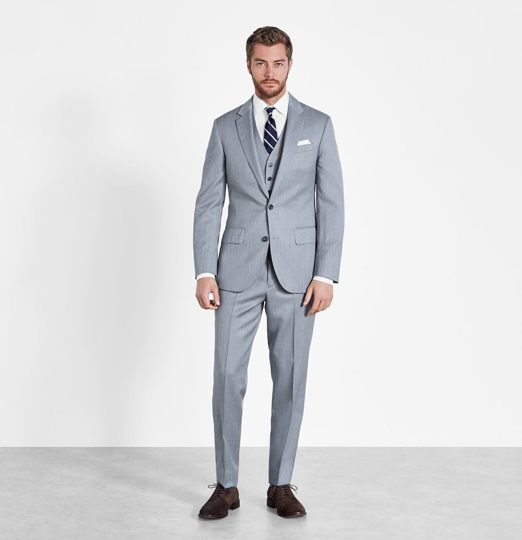 Shades of grey never looked so good. This picture-perfect outfit is ...