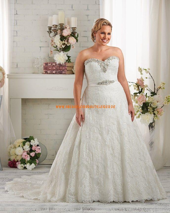 Bonny A-linie Schöne Glamouröse Brautkleider aus Softnetz mit ...