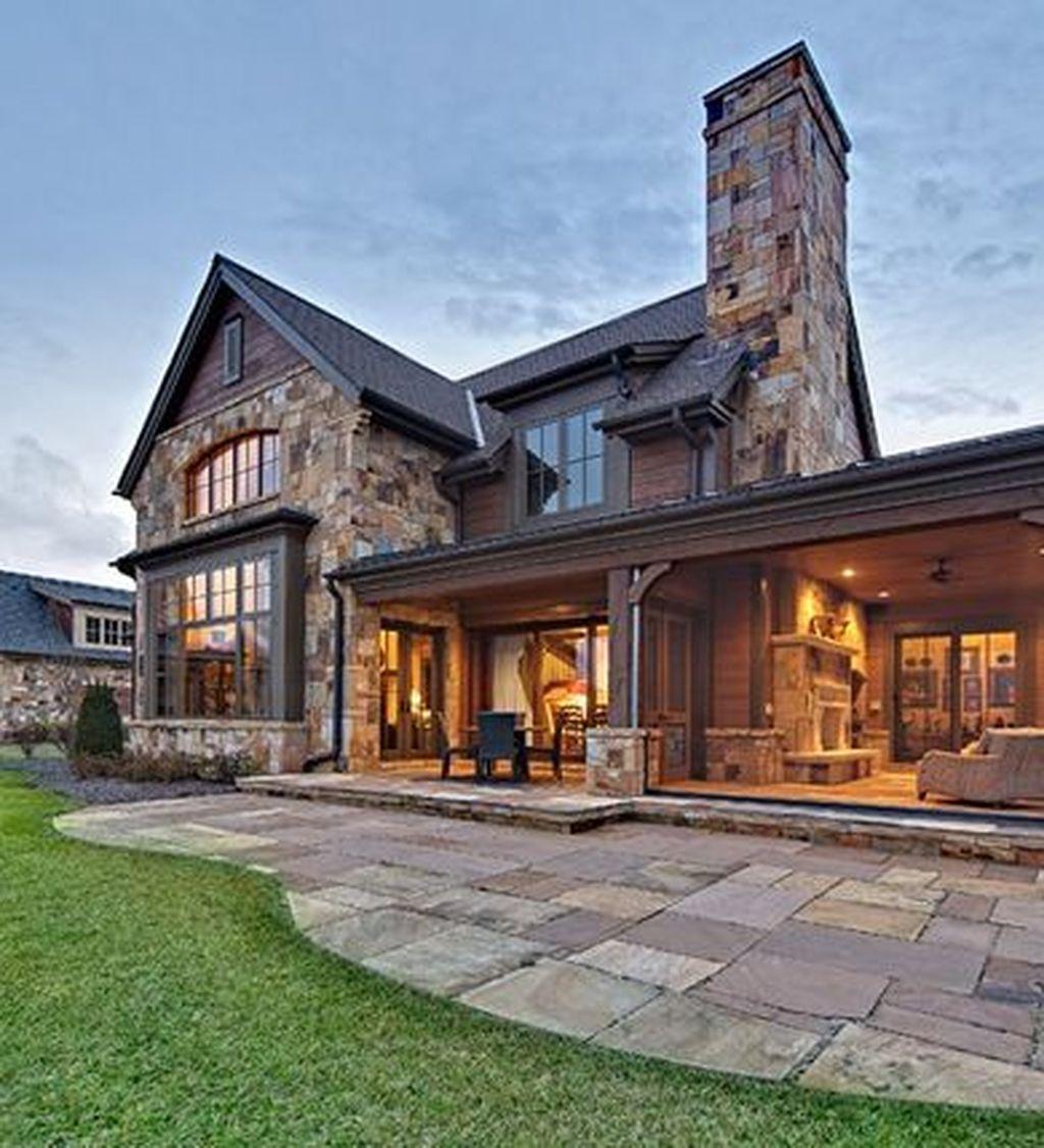 40 Pretty Stone House Design Ideas On A Budget Design Your Dream House Stone Houses House Exterior