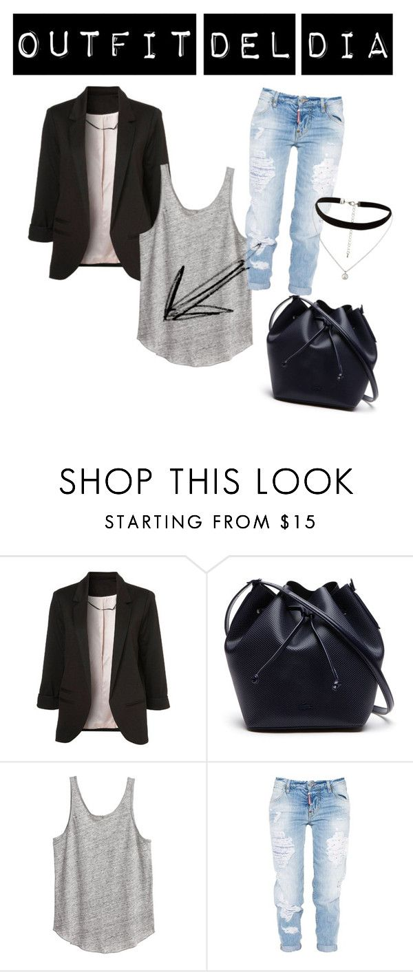 """3W"" by claudia-ut on Polyvore featuring moda, Lacoste, Dsquared2 y New Look"
