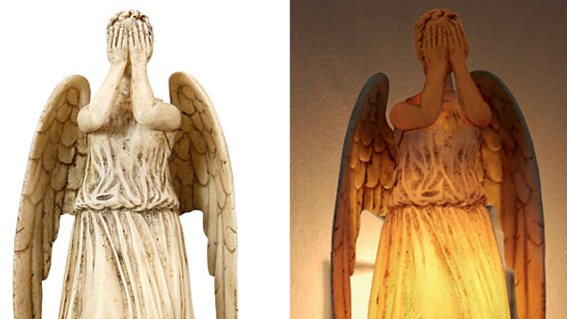 A Weeping Angel Night Light Is The Ultimate Way Of Petrifying Your Kids Weeping Angel Night Light Light