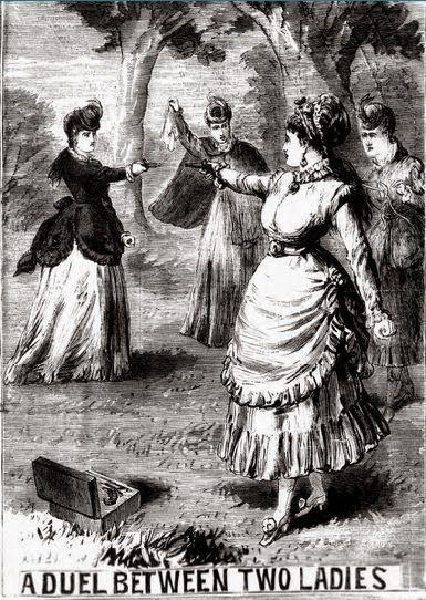A Duel Between Two Ladies December 11 1869 Female