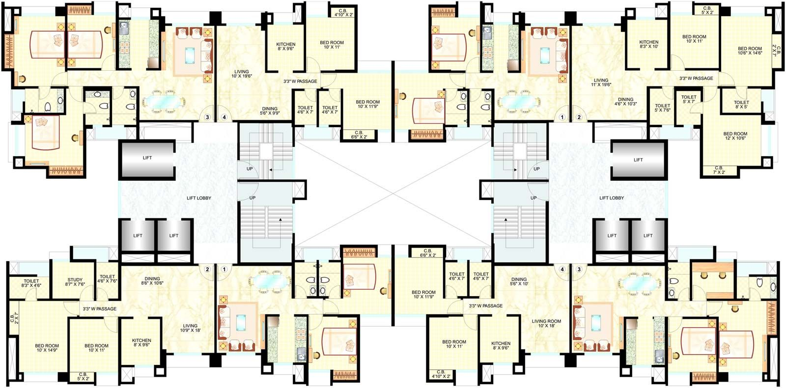 2 Bedroom Apartment Plans 2 Bedroom Apartment Floor Plans 1015822 Decorating Ideas