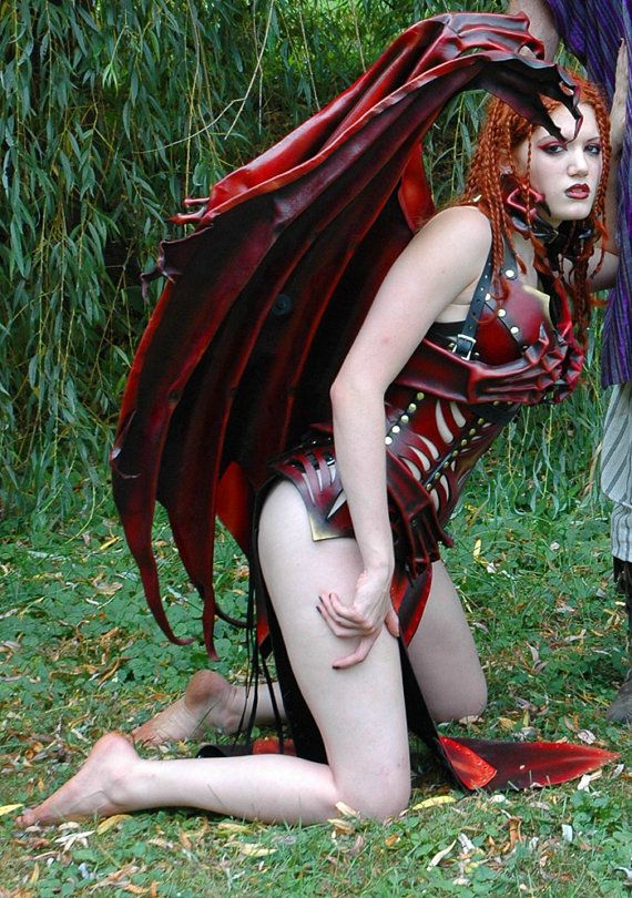 Lamia Leather Demon Costume