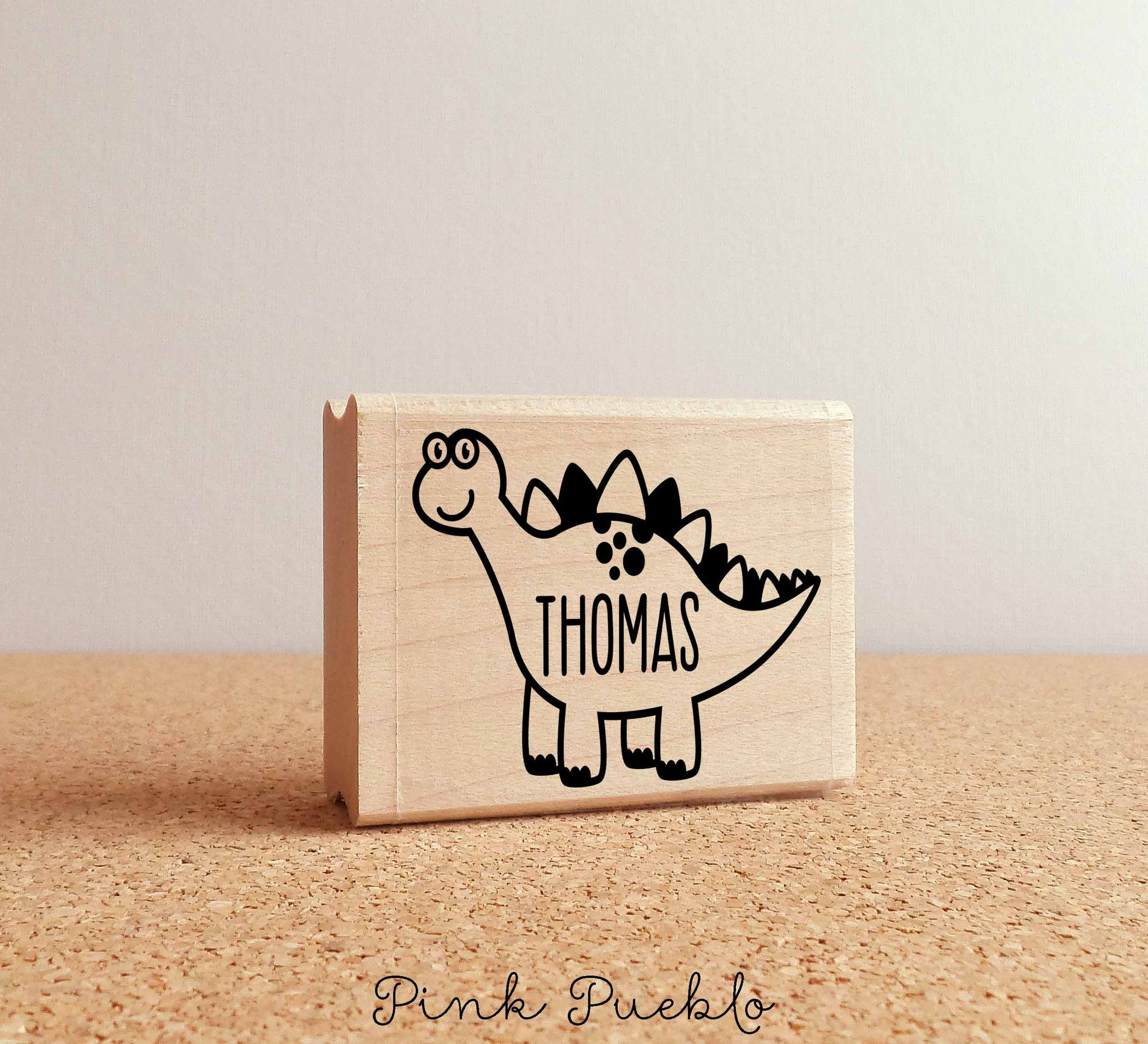 950b3cd287a Custom Dinosaur Rubber Stamp with Personalized Name | stamp carving ...