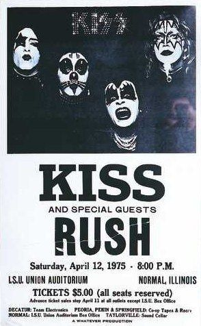Kiss And Rush Concert Posters Rock Band Posters Kiss Concert