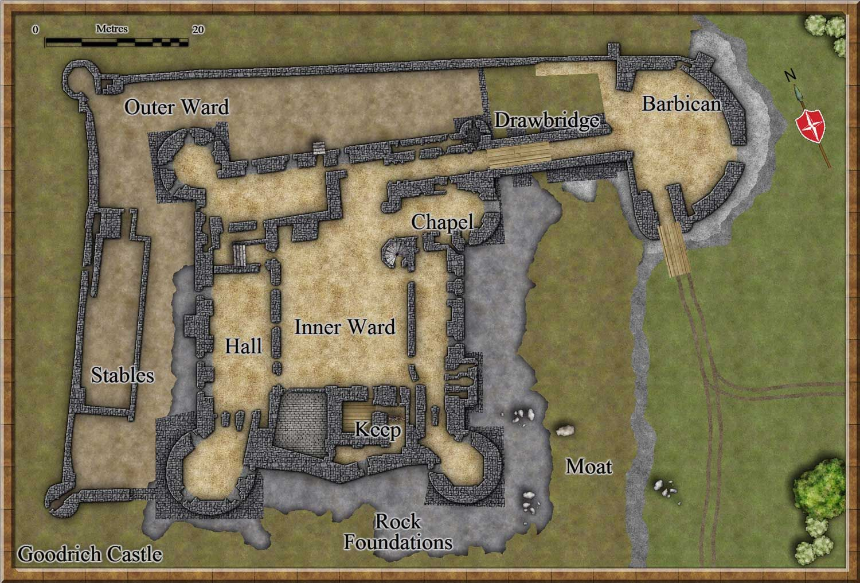 Goodwich Castle Plan Castles Medieval Castle Castle