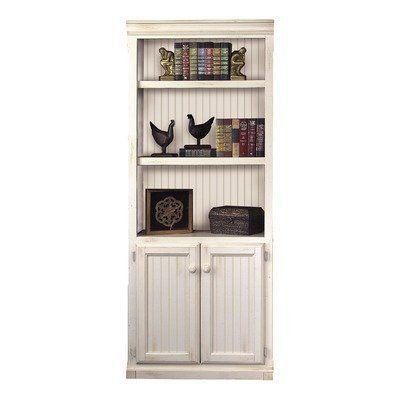 Southampton Oyster Bookcase With Doors Oyster White By