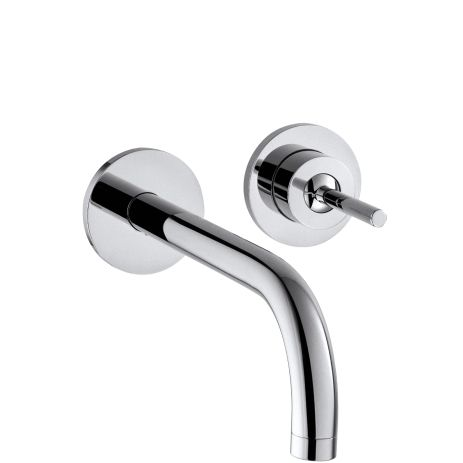 Hansgrohe Single Lever Basin Mixer For Concealed Installation With Spout 225 Mm And Escutcheons Wall Mou Single Handle Faucet Wall Mount Faucet Bathroom Faucet