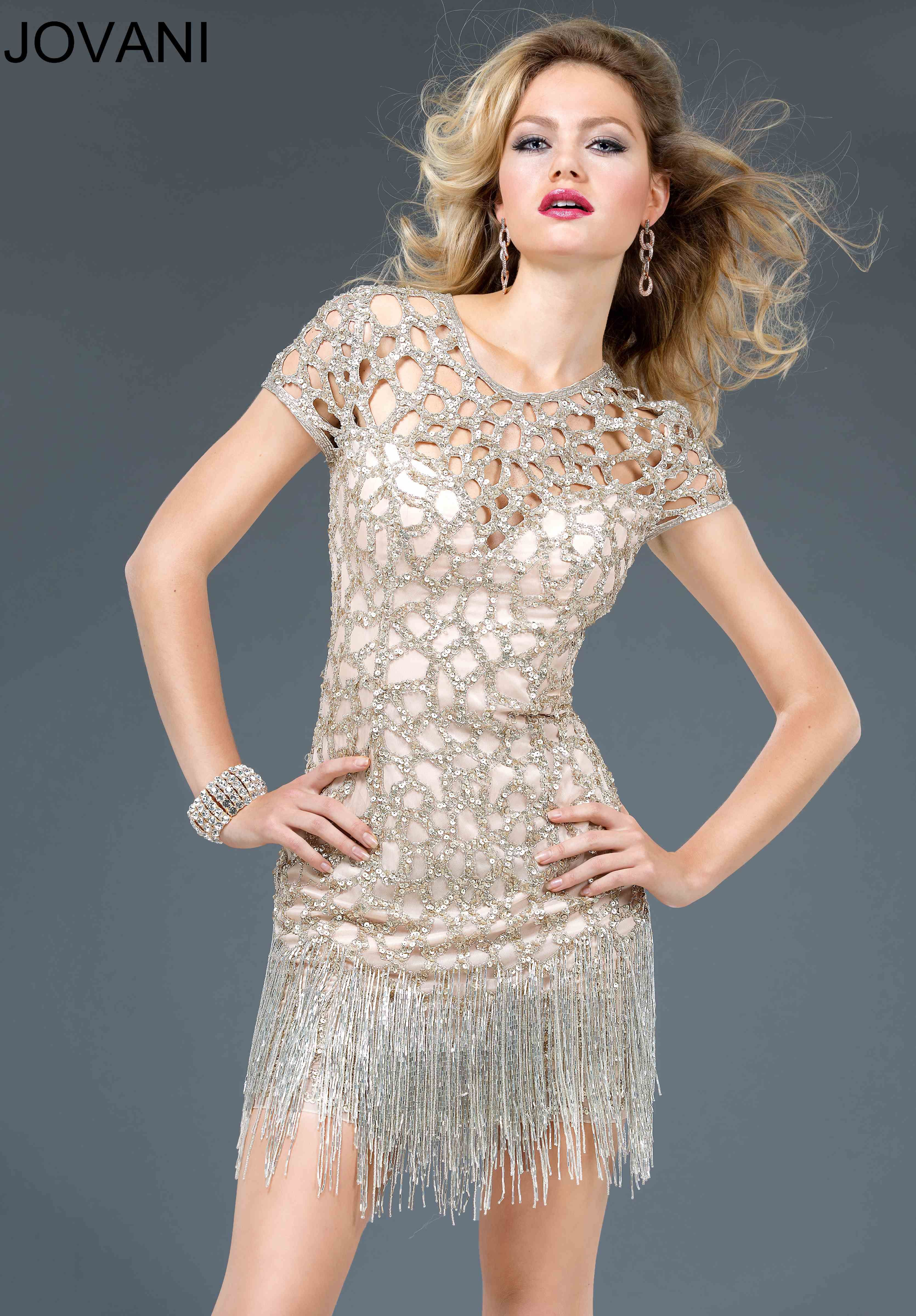 ivory-gold-popular-jovani-cocktail-dress | Adornments | Pinterest ...