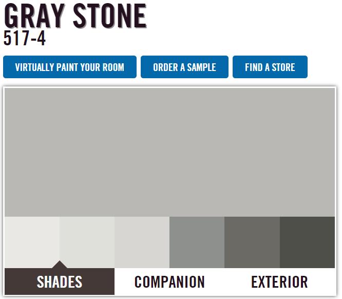 Pittsburgh Paints Menards Gray Stone Grey Paint Colors Color