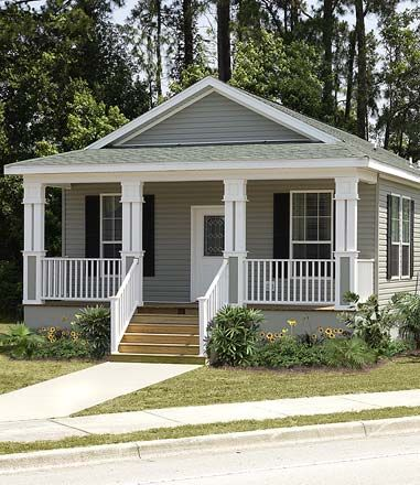 Modular homes with front porches manufactured and for One level modular homes