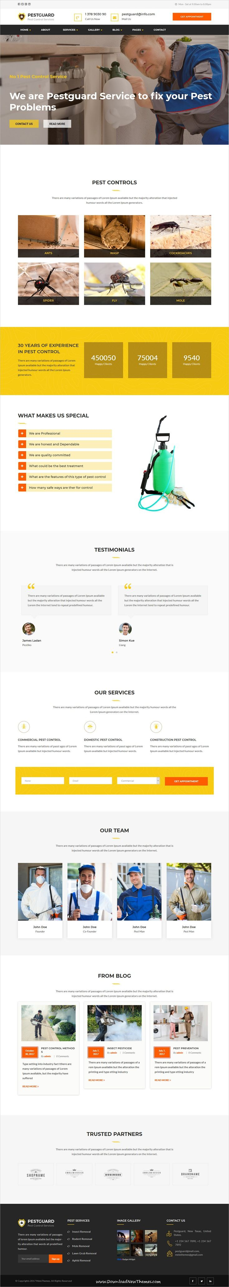 pestguard is clean and modern design 3in1 responsive wordpress theme for pestcontrol and